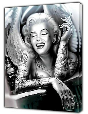 Marilyn Monroe Evil Angel Photo Picture Print On Framed Canvas Wall Art  Decor • 11.49£