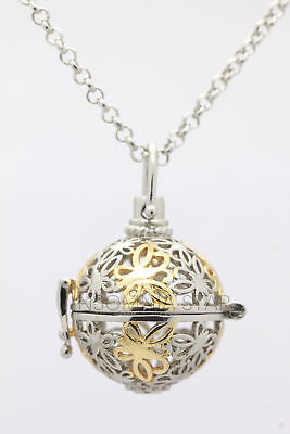 AU3.98 • Buy Harmony Ball Pendant Lockets Essential Oil Perfume Diffuser Necklace Butterfly