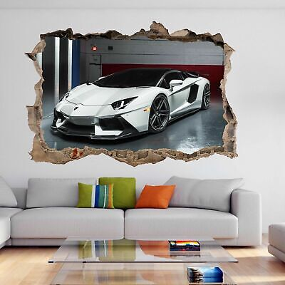 Supercar Sports Car Wall Sticker Mural Decal Kids Boys Bedroom Decor DH111 • 22.99£