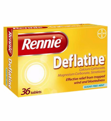 Rennie Deflatine 36 Tablets For Trapped Wind And Bloating UK PHARMACY STOCK  • 7.49£