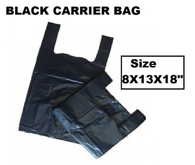 Strong Plastic Vest Carrier Bags For Supermarkets Stalls ARIES(BLACK)  • 3.10£