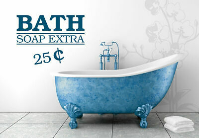 Wall Vinyl Sticker Bedroom Decal Words Sign Quote Bath Soap Extra (Z949) • 22.19£