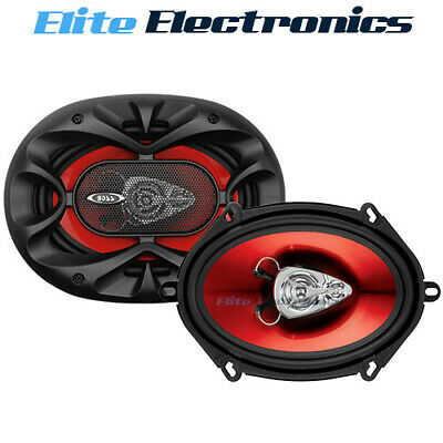 AU54.85 • Buy BOSS CH5730 5x7  CHAOS 3-WAY 300W RMS REAR STEREO COAXIAL CAR AUDIO SPEAKERS