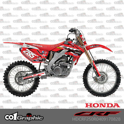 $122 • Buy Graphics Decals Stickers Full Kit For Honda Crf250r 2004-2009
