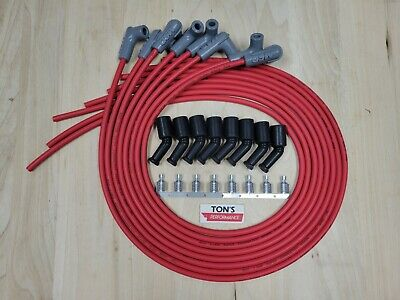$118.88 • Buy 42  MSD 8.5mm LSX LS1 Universal Unassembled 90 Degree Spark Plug Boots Wires RED