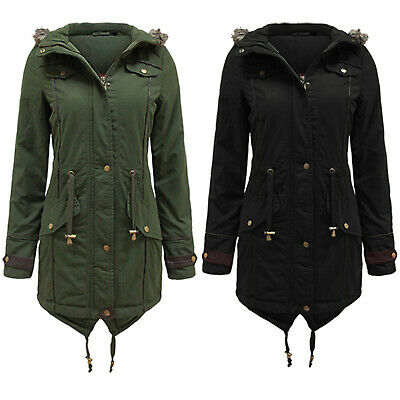 Women Ladies Padded Jacket Puffer Puffa Winter Military Casual Bubble Parka Coat • 34.99£