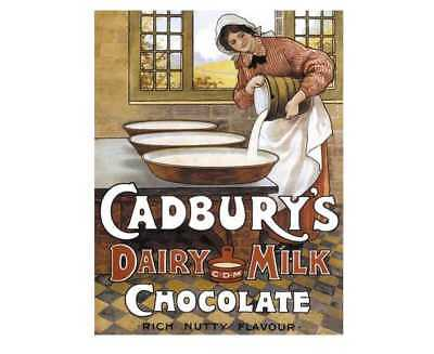 £9.99 • Buy Cadbury's Dairy Milk Chocolate Retro Vintage Style Metal Wall Plaque Sign