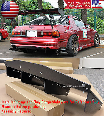 $69.90 • Buy 30  X 12.5  ABS Textured Rear Bumper Center 4 Fins Diffuser Fin Black For  Chevy