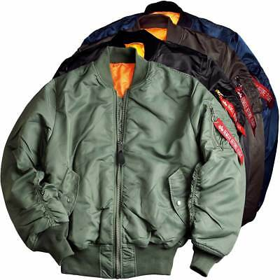 £152.95 • Buy Alpha Industries MA-1 Flight Bomber Jacket Reversible Zipped Military 5 Colours