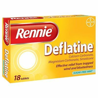 Rennie Deflatine | 18 Tablets For Trapped Wind And Bloating | UK PHARMACY STOCK  • 4.99£