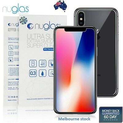 AU8.95 • Buy Nuglas Tempered Glass Screen Protector Guard Front And Back For Apple IPhone X