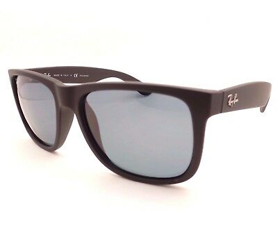 c7befed39077c AUTHENTIC Ray Ban Justin RB 4165 622 2V Matte Black Rubber Blue Polarized •  112.95