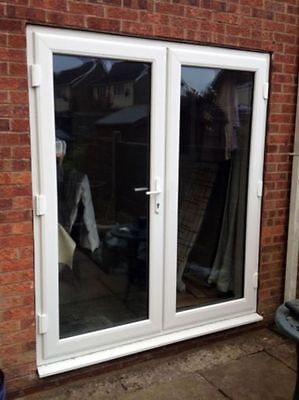 White UPVC PATIO DOORS MADE TO MEASURE / FRENCH DOORS - FREE DELIVERY • 395£