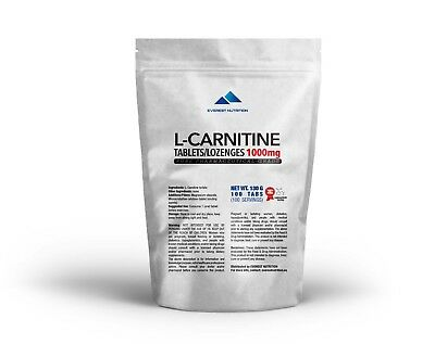 AU27.87 • Buy L-Carnitine Carnitine Tablets / Lozenges 1000mg Pure Pharmaceutical Quality