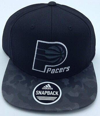 30d3bff4ab3 NBA Indiana Pacers Adidas Structured Camo Brim Snap Back Cap Hat Beanie   VS75Z • 34.99
