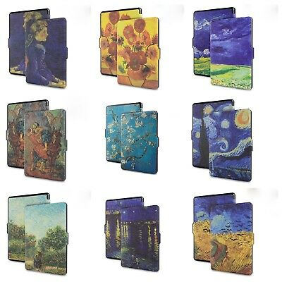 AU10.99 • Buy Van Gogh Printed Art Design Kindle Paperwhite PU Leather Quality Cover Case