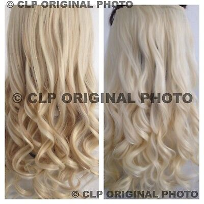"""£7.49 • Buy Clip In Hair Extensions 22"""" Synthetic 1pc Curly Long Thick Like Real Hair UK"""