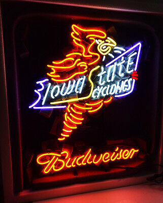$ CDN286.74 • Buy Iowa State Cyclones Vintage Man Cave Beer Bar Neon Sign Light Window Wall