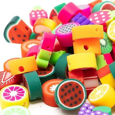 £1.89 • Buy Fruit Fimo Kawaii Polymer Clay Beads In Packs Of 50. Assorted Bright Designs