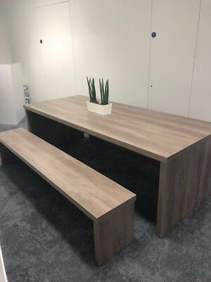 £650 • Buy Large Wooden Table And 2 Benches - Brand New Quality - Office Furniture