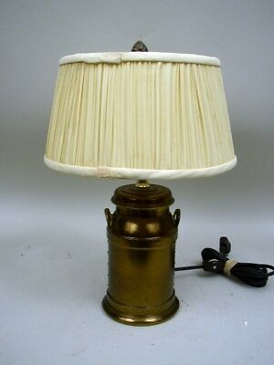 $45 • Buy 12  Metal Milk Can Accent Lamp With Original Shade