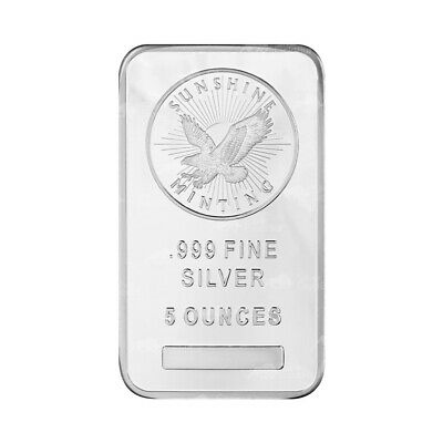 $ CDN211.75 • Buy 5 Oz Sunshine Mint Silver Bar