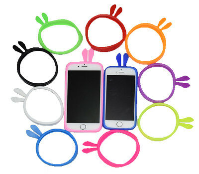 Universal Silicone IPhone,Samsung Bunny Ears Cell Phone Case Bumper Soft Cover  • 2.69£