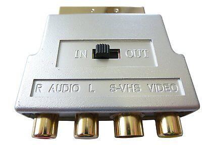 £6.68 • Buy Gold Switchable Scart To 3 Phono & S-Video Adaptor