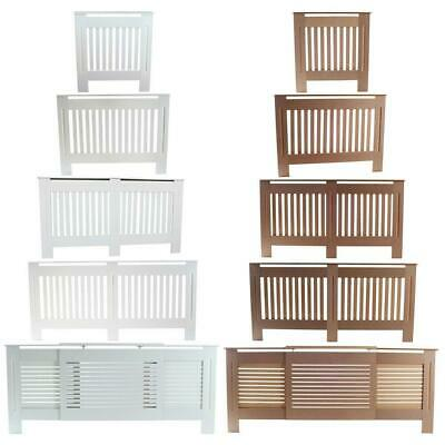 £27.99 • Buy Radiator Cover White Painted/Natural UnPainted Cabinet Wood Vertical Stripe