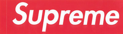 $ CDN5.08 • Buy Supreme Store Red Box Logo Clothing Sticker - 100% Official Genuine Authentic