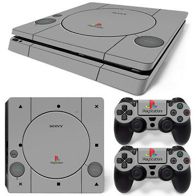 AU9.99 • Buy PS1 Retro Vinyl  Decal Skin Sticker FOR  PS4 Slim Console &2 Controllers