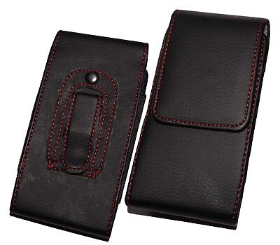 £3.95 • Buy PU Leather Belt Pouch Holster Holder Clip Case Cover For IPhone & Galaxy Mobiles