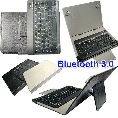 PU Leather Bluetooth 3.0 Keyboard Case For 10.1 Samsung Galaxy Note N8000 N8010 • 19.60£