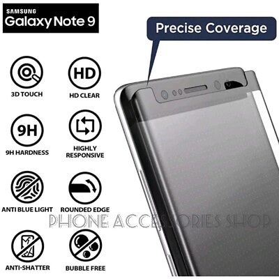 $ CDN7.02 • Buy For Samsung Galaxy Note 9 100% Genuine 5D Tempered Glass Screen Protector Black