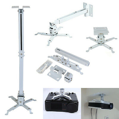 4 Arms Projector Ceiling Wall Mount Bracket LED LCD DLP Monitor Tilt Extendable • 9.69£