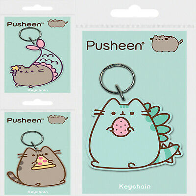£2.95 • Buy New Pusheen Rubber Keyrings PVC Pyramid Official UK Gift Keychain Anime