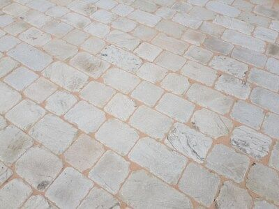 Tumbled Setts Cobbles Paving For Driveway Patios - Natural Yorkshire York Stone • 60£