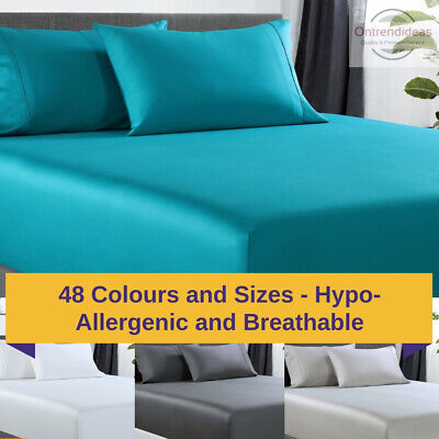 AU44.95 • Buy 400TC Bamboo Cotton Fitted Sheet And Two Pillowcase Set, Bamboo Sheets MQ MK