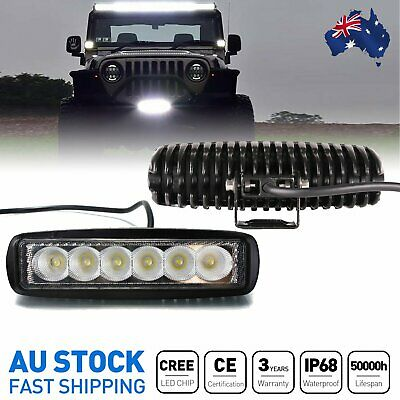 AU26.99 • Buy Pair 6'' Inch Cree Led Work Light Bar Flood Reverse Fog Lights Offroad 4WD SUV
