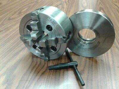 AU207.12 • Buy 6  4-JAW LATHE CHUCK W Independent  Jaws W L00 Adapter Semi-finished #0604F0