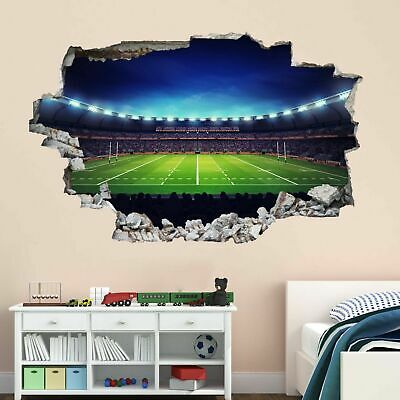 £18.99 • Buy Rugby Stadium Wall Art Stickers Mural Decal Kids Bedroom Home Office Decor BD67