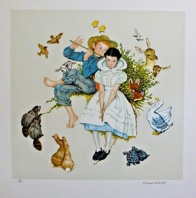 $ CDN2934.57 • Buy NORMAN ROCKWELL - Four Ages Of Love  SPRING  - Signed And Numbered - COA