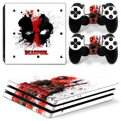 AU10.99 • Buy Ps4 PRO Playstation 4 Console Skin Decal Sticker DEADPOOL+ 2Controller Skins Set