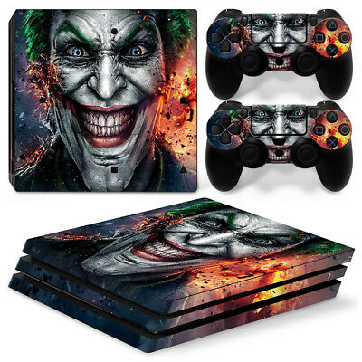 AU10.33 • Buy Ps4 PRO Playstation 4 Console Skin Decal Sticker JOKER + 2 Controller Skins Set