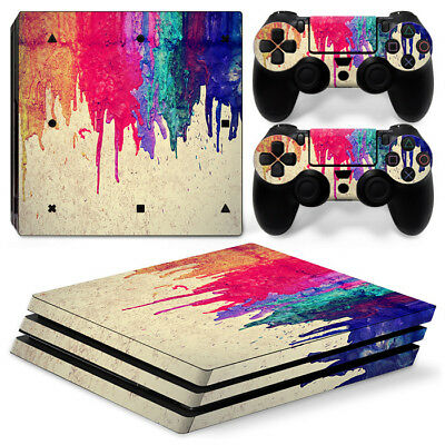 AU10.22 • Buy [PS4 Pro]  Colorful VINYL SKIN STICKER DECAL Cover Console &2 Controllers