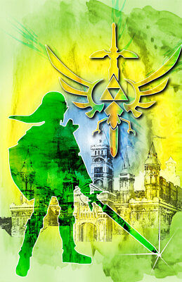 $9.99 • Buy The Legend Of Zelda Link Gamer Art 11 X 17 High Quality Poster