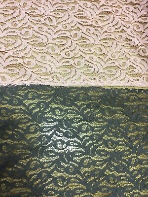 Guipure Cotton Lace FABRIC Floral Bridal Evening Dress Material 0.5 Metre V WIDE • 7.95£