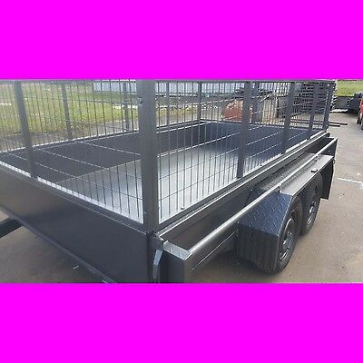 AU3099 • Buy 10x6 Galvanised Tandem Trailer With Cage Australian Made Heavy Duty