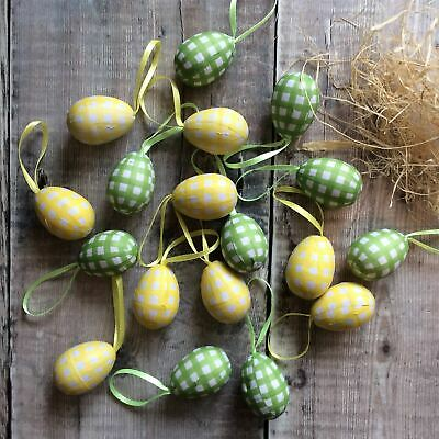 Set Of Eighteen Gingham Easter Egg Easter Decorations By Gisela Graham • 5£
