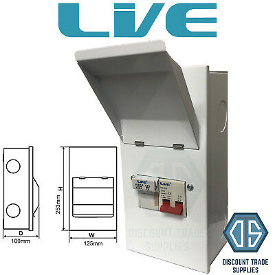 Live Metal Clad Fused Isolator Switch MCFS100 SP&N 100 Amp Single Phase Free P&P • 31.85£